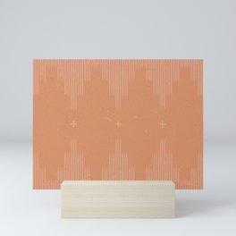 Southwestern Minimalist Terra Cotta  Mini Art Print