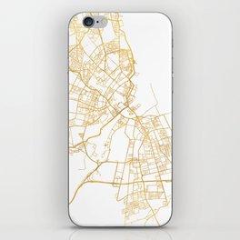 COPENHAGEN DENMARK CITY STREET MAP ART iPhone Skin