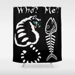 Cat n fish Shower Curtain