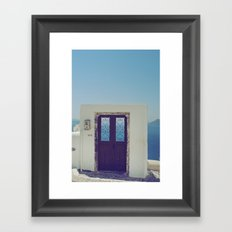 Santorini Door V Framed Art Print