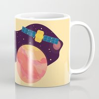 katamari Mugs featuring Satellite by badOdds
