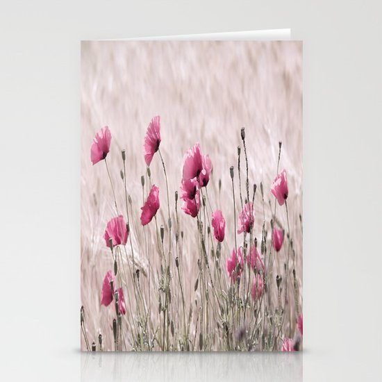 Poppy Pastell Pink Stationery Cards