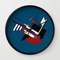 kandinsky Wall Clocks featuring STARSHIP by THE USUAL DESIGNERS