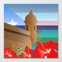 puerto rico Canvas Prints featuring Puerto Rico #2 by PADMA DESIGNS PR