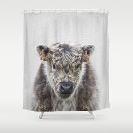 Fluffy Cow - Colorful Shower Curtain