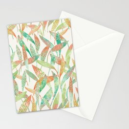 Hosta Leaves Watercolor Stationery Cards