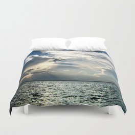 Coconut Grove Sailing Day Duvet Cover