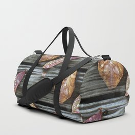 Autumn Leaves with Raindrops Duffle Bag
