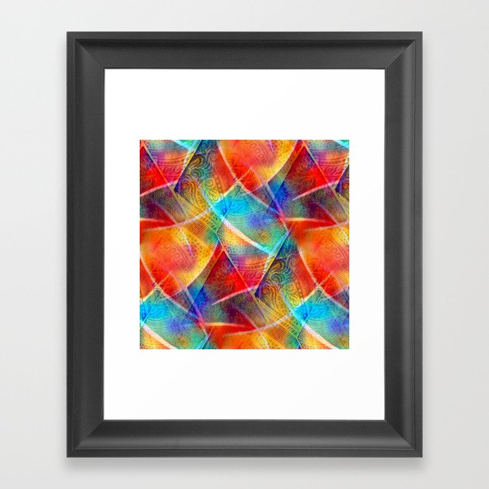 Boho Rainbow Framed Art Print