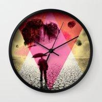 dessert Wall Clocks featuring DESSERT RAIN by d.ts