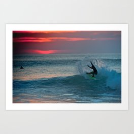 Late Afternoon Surf, Hossegor- France - 2013 Art Print