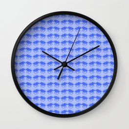 Blue Dinosaur Triceratops Pattern Ultra High Definition Wall Clock