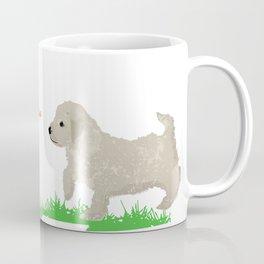 Cockapoo dog art cream Coffee Mug