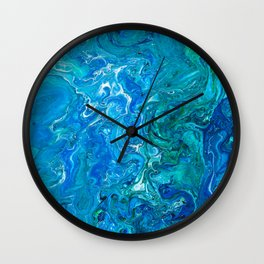 Elegant Crazy Lace Agate 2 - Blue Aqua Wall Clock