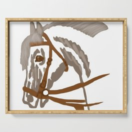 Bridled horse Serving Tray