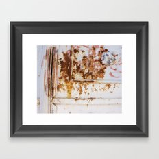 Rust and white paint Framed Art Print