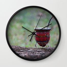 The perfect infusion: the argentinian's mate Wall Clock