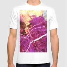Roses and Marble White Mens Fitted Tee MEDIUM