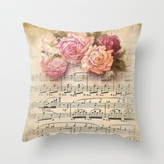Vintage Music #2 Throw Pillow