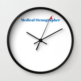 Medical Stenographer Ninja in Action Wall Clock