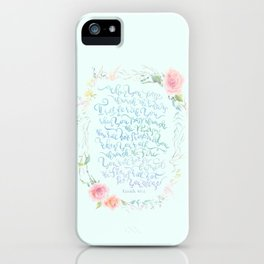 I Will Be With You - Isaiah 43:2 iPhone Case