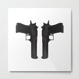 Duel Desert Eagles Metal Print