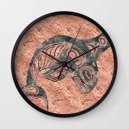 Smoke Keét Copper Wall Clock