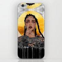 fka twigs iPhone & iPod Skins featuring FKA Twigs by Sara Eshak