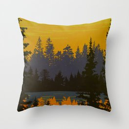 Ontario Algonquin Travel Poster Throw Pillow