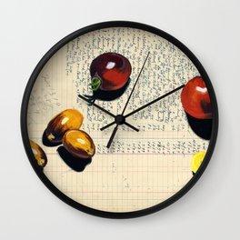 Heirloom Tomatoes in Gouache Wall Clock