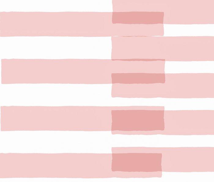 Big Stripes in Pink Metal Travel Mug