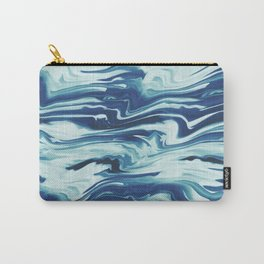 Marbled retro waves Carry-All Pouch