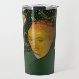 Vincent van Gogh - La Berceuse (Woman Rocking a Cradle; Augustine-Alix Pellicot Roulin, 1851–1930) Travel Mug