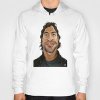 celebrity Hoodies featuring Celebrity Sunday ~ Javier Bardem by rob art | illustration