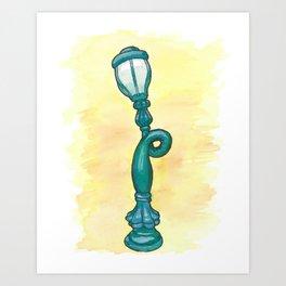 Toontown Lamp Art Print