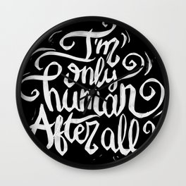 Typo After All Wall Clock