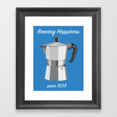 Brewing Happiness Framed Art Print
