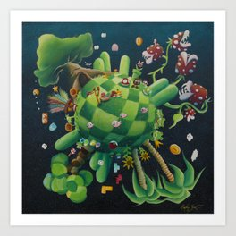 The consoling planet Art Print