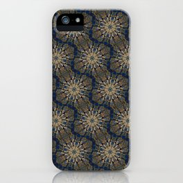 Jaws on Gold and Blue iPhone Case