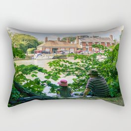 Gone fishing. Rectangular Pillow