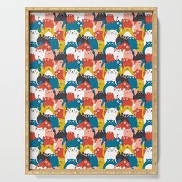 Cats Crowd Pattern Serving Tray
