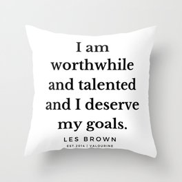 44    Les Brown  Quotes   190824 Throw Pillow