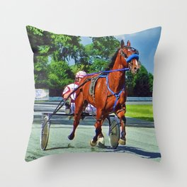 The Backstretch Throw Pillow