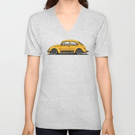 Legendary Custom Jeans Bug Vintage Retro Cool German Car Wall Art and T-Shirts Unisex V-Neck