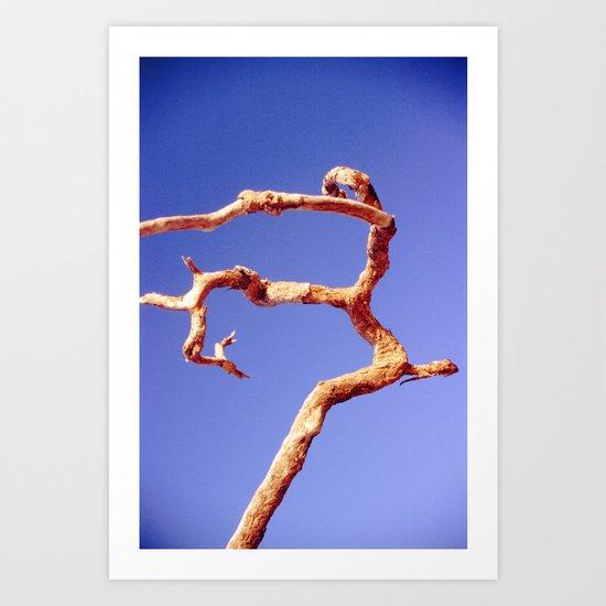 Tree Blue Art Print