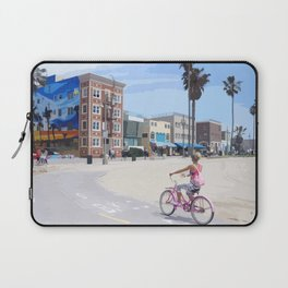 Riding bike in Venice Beach Laptop Sleeve