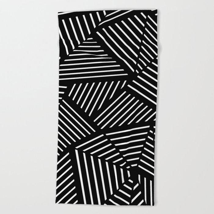 Ab Linear Zoom Black Beach Towel