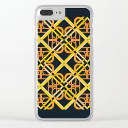 Interlaced Love Mandala Tiled - Gold Black Clear iPhone Case