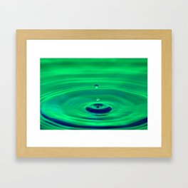 Peaceful - Emotions Water Drop Photography Framed Art Print