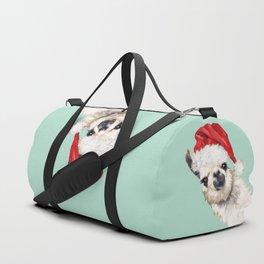 Christmas Sneaky Llama Duffle Bag